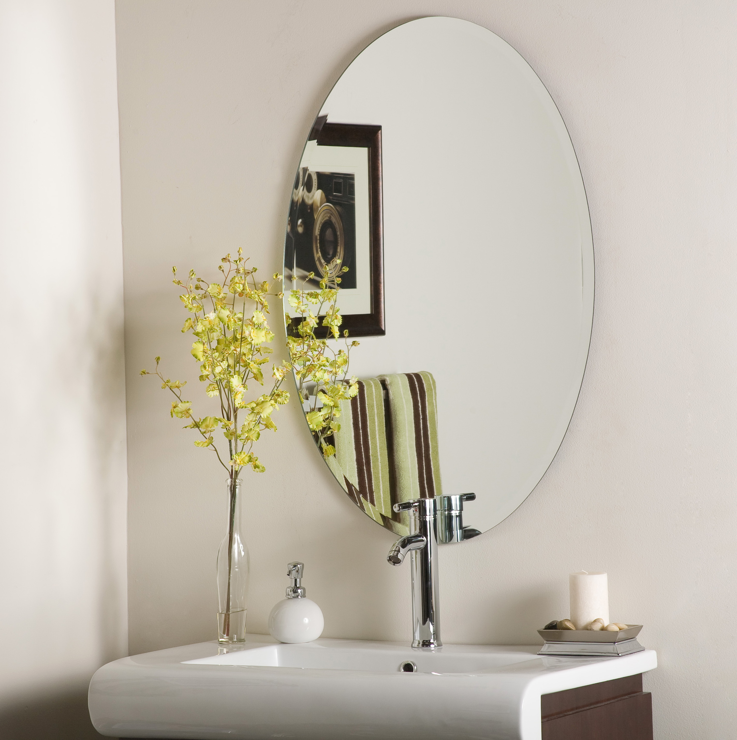 bathroom wall mirrors frameless frameless wall mirrors for bathroom home design ideas 17132