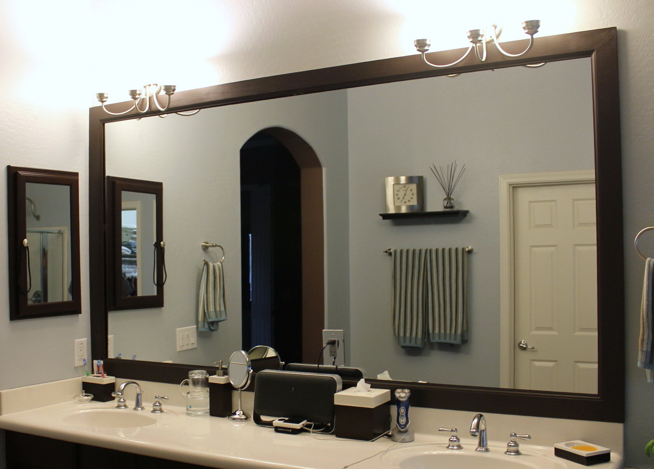 Framing Bathroom Mirror Diy