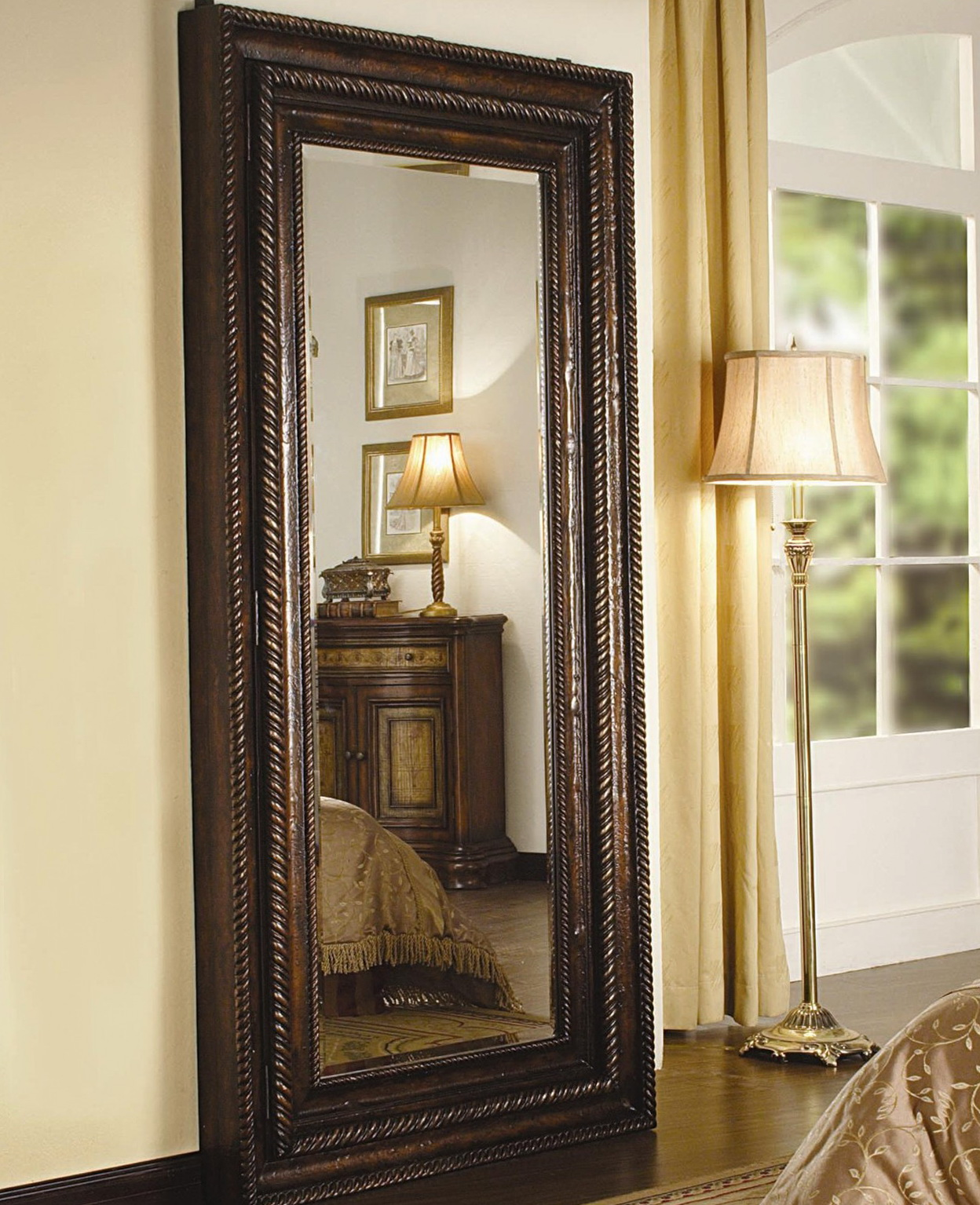 Full Length Floor Mirror With Jewelry Storage