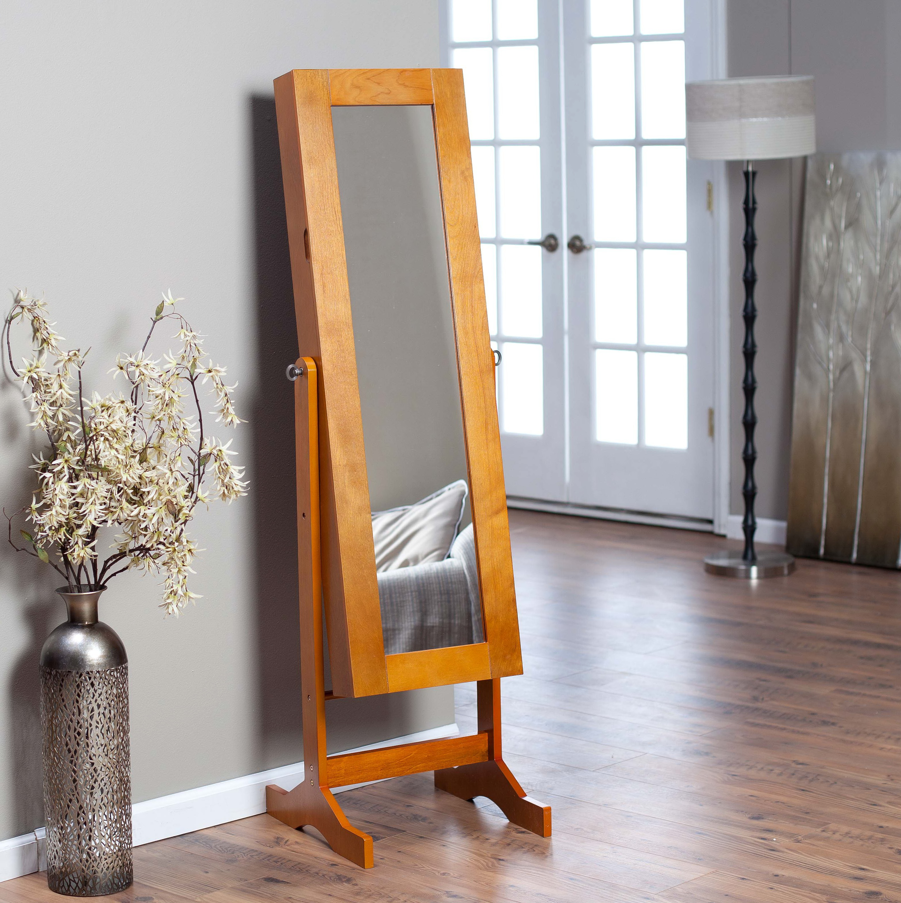 Full Length Mirror Jewelry Armoire Walmart Home Design Ideas