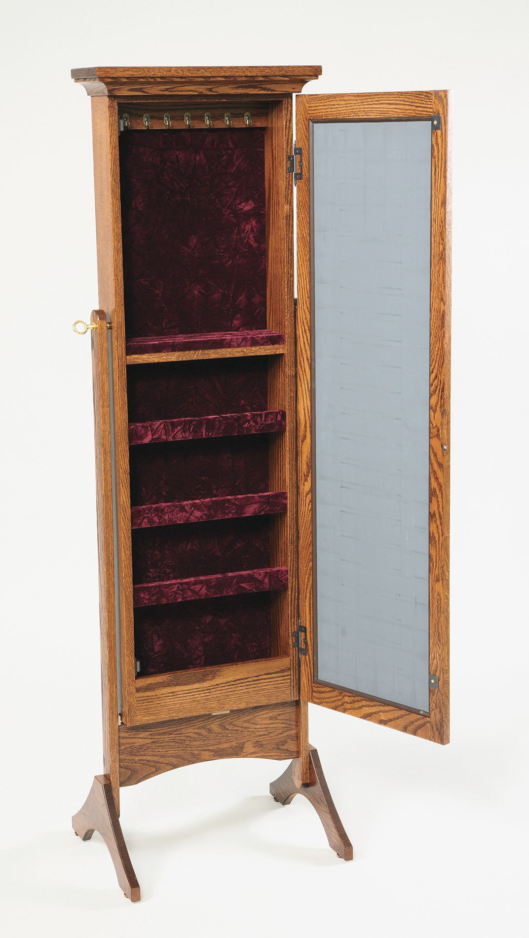 Full Length Mirror With Jewelry Storage Plans