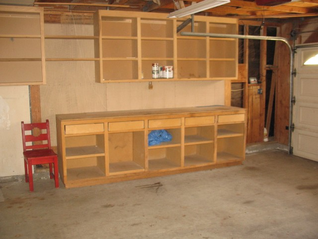 Garage Work Bench And Cabinets