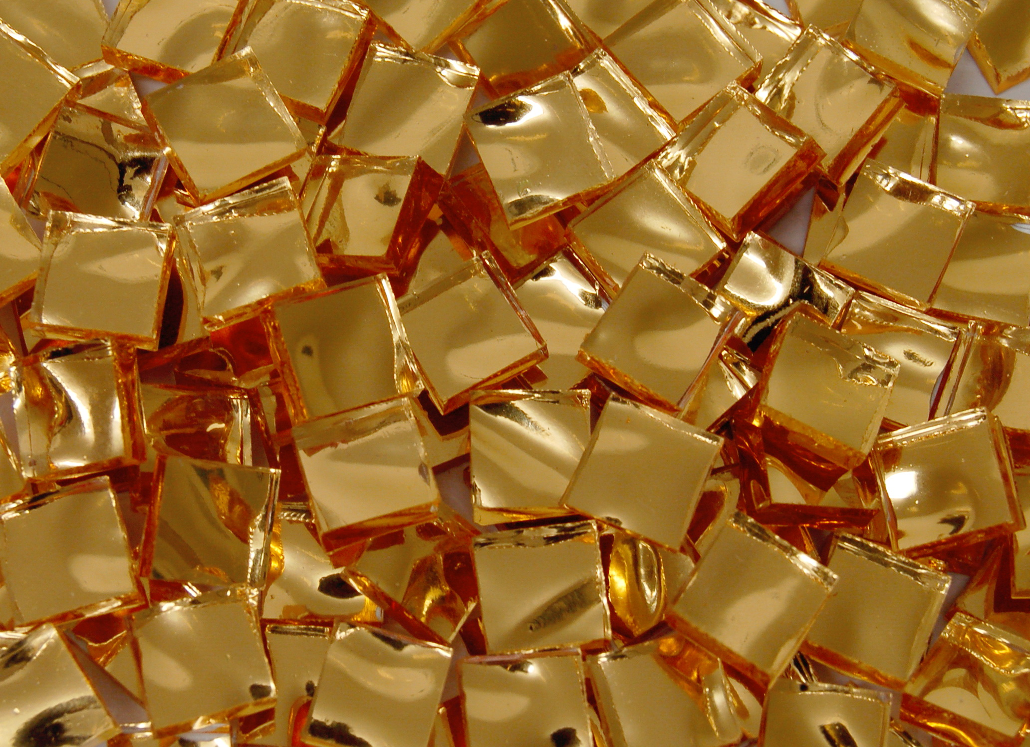 Gold Mosaic Mirror Tiles