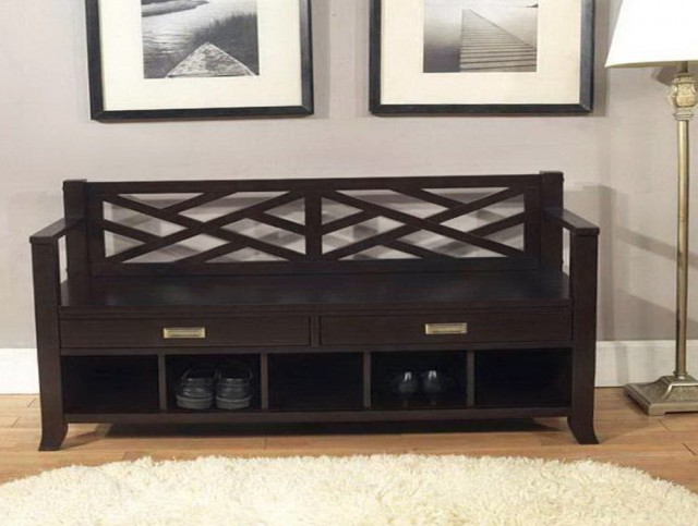 Hall Shoe Bench Storage