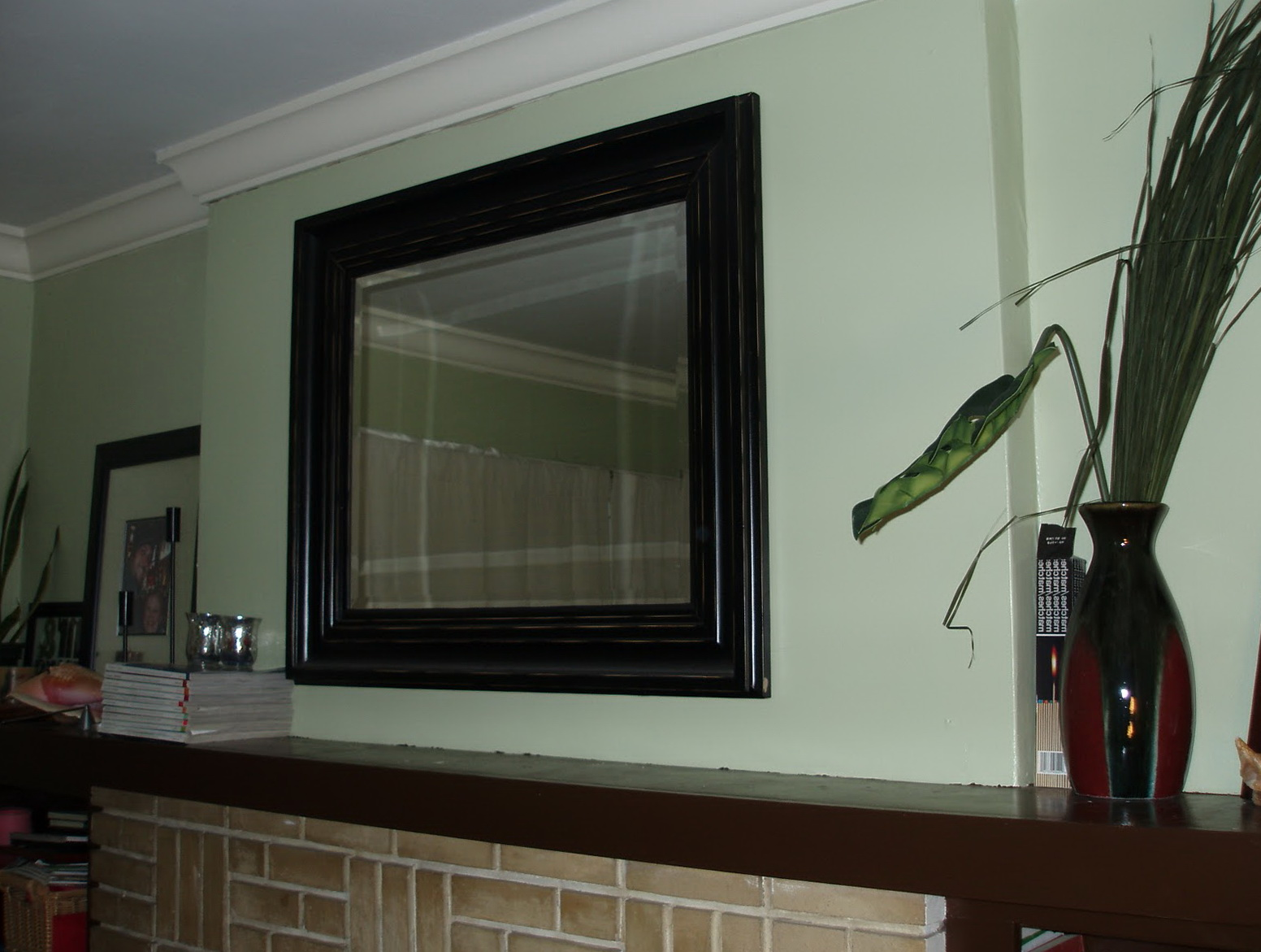Hanging Heavy Mirror Over Fireplace