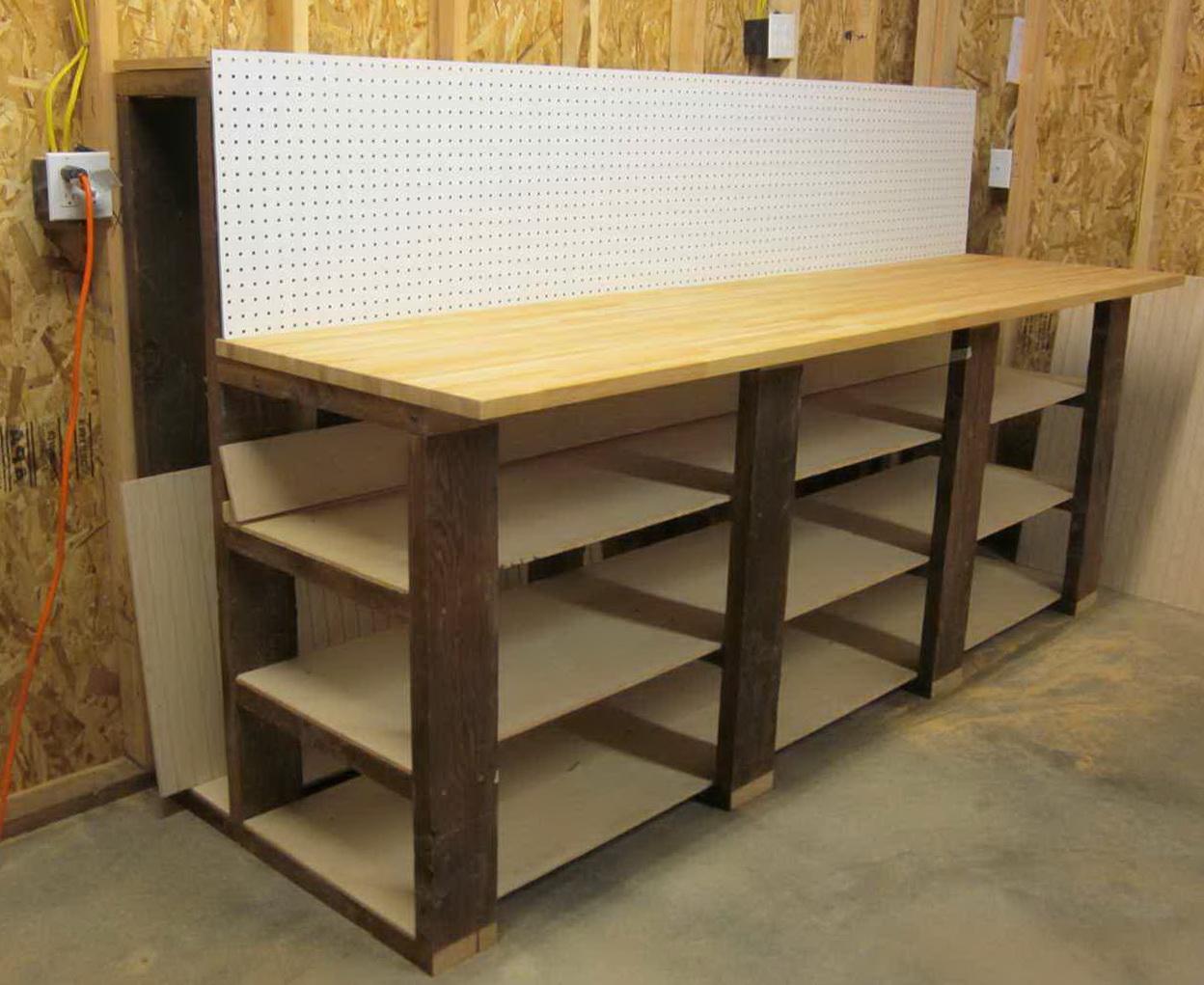 Homemade Metal Work Bench