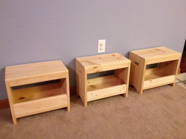 Kids Storage Bench Plans