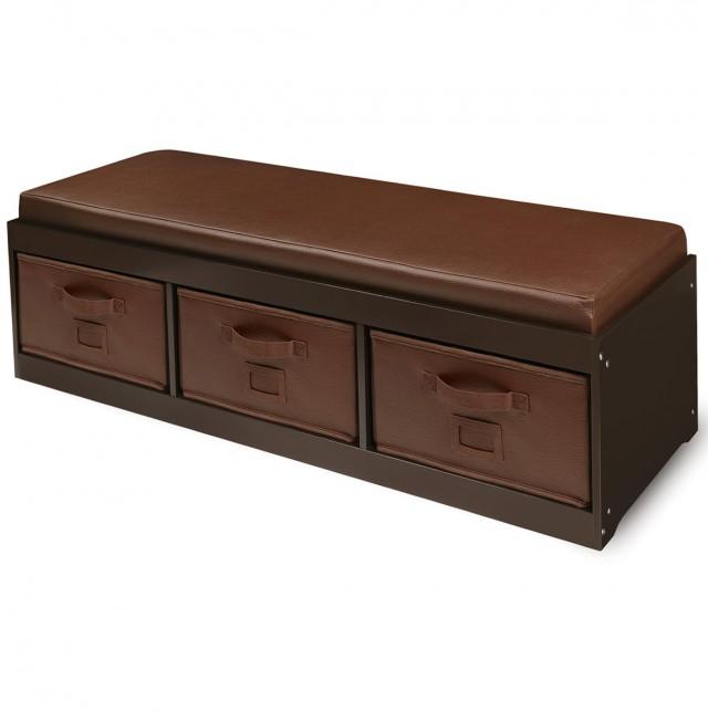 Kids Storage Bench With Bins