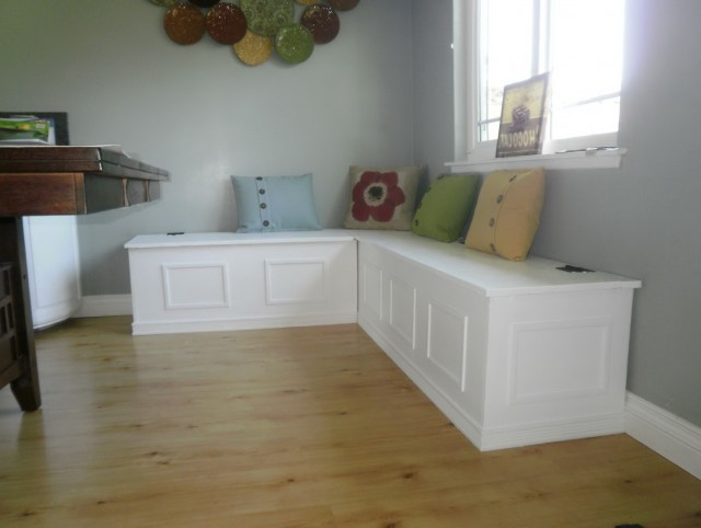 L Shaped Bench With Storage Plans
