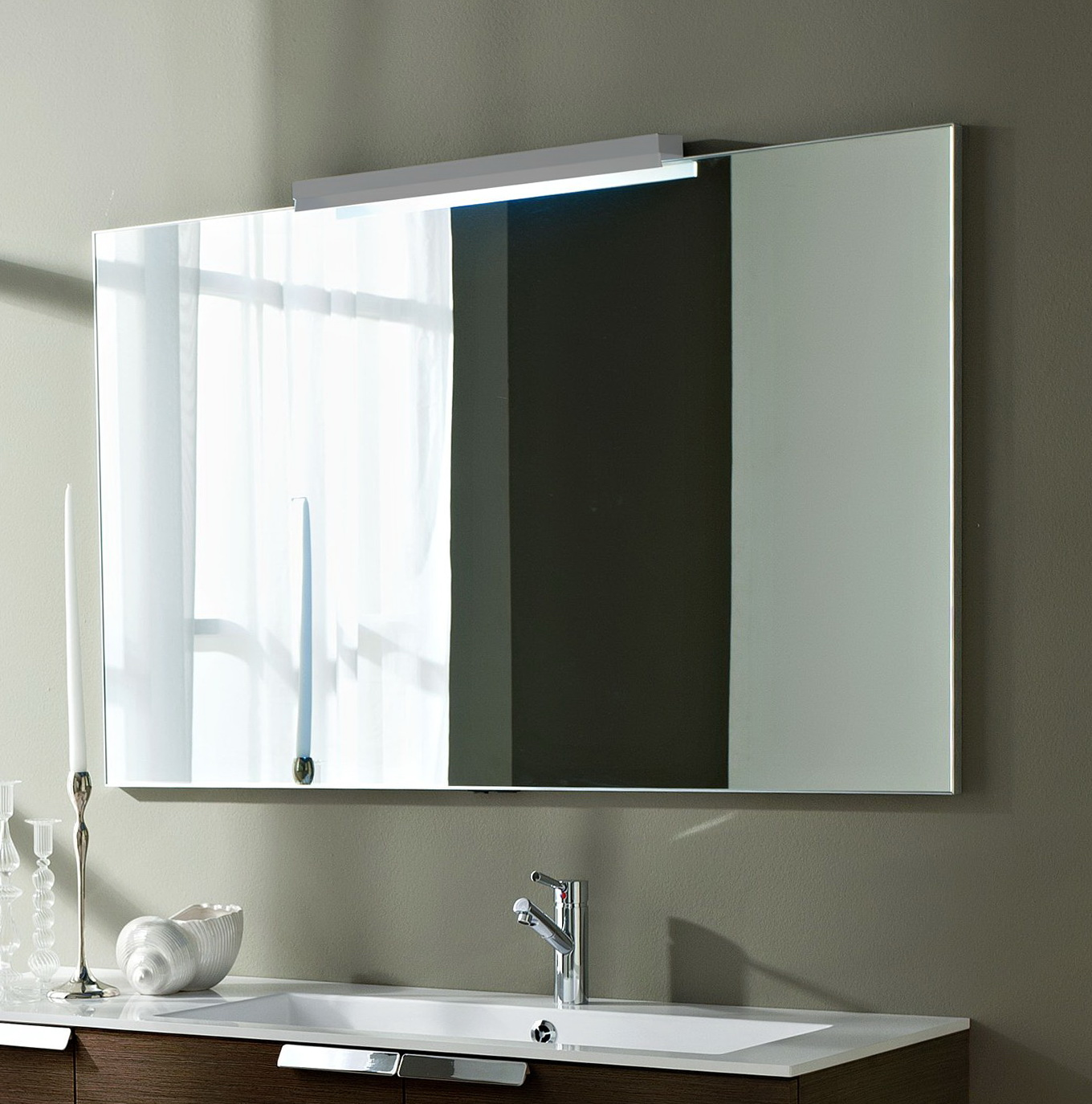 Large bathroom mirrors ideas home design ideas for Bathroom wall mirrors large