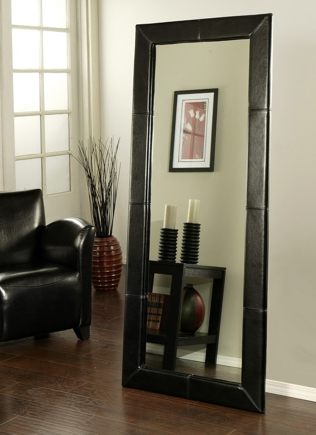 Large Black Floor Mirror