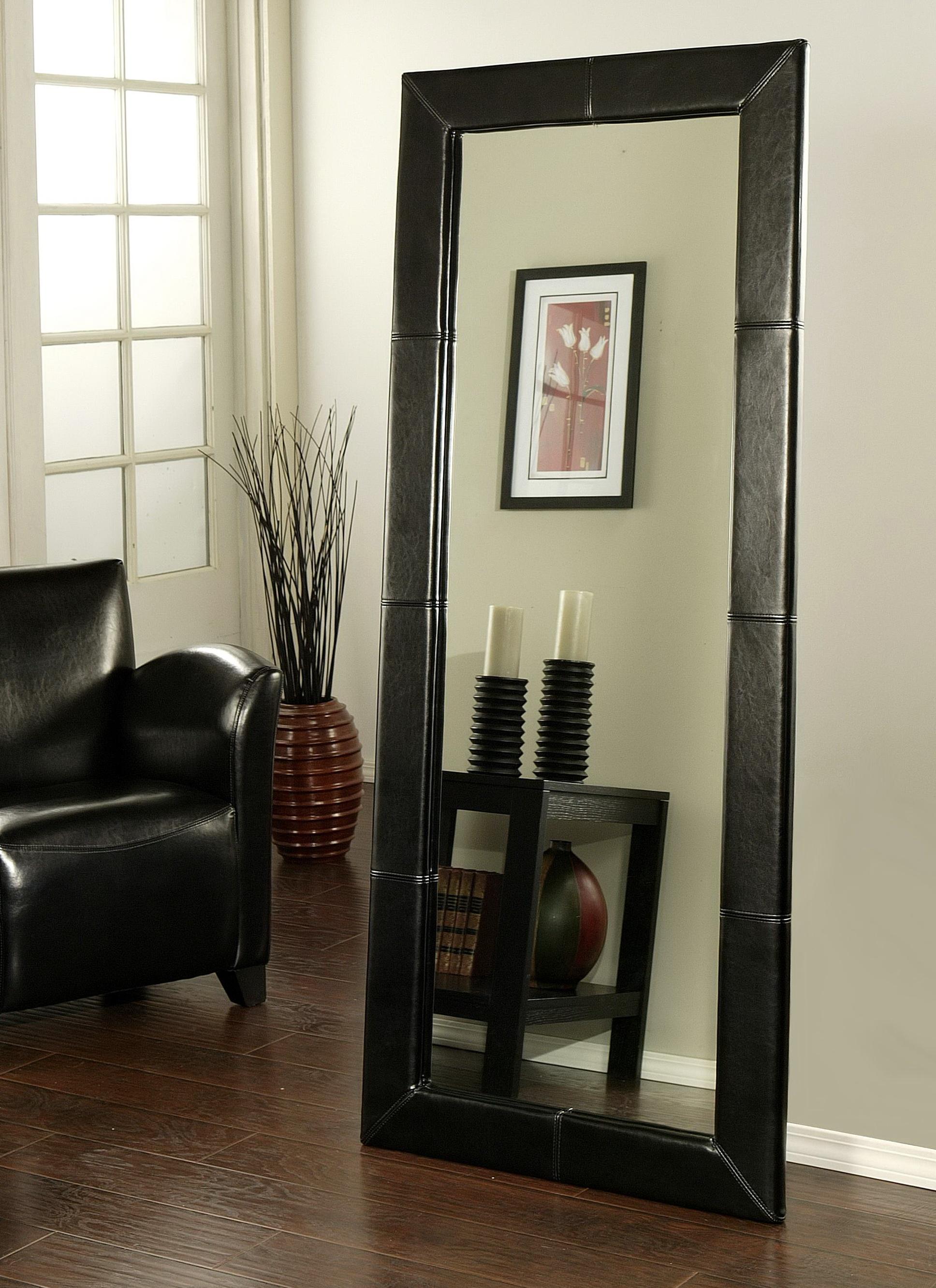 Large Black Floor Mirror