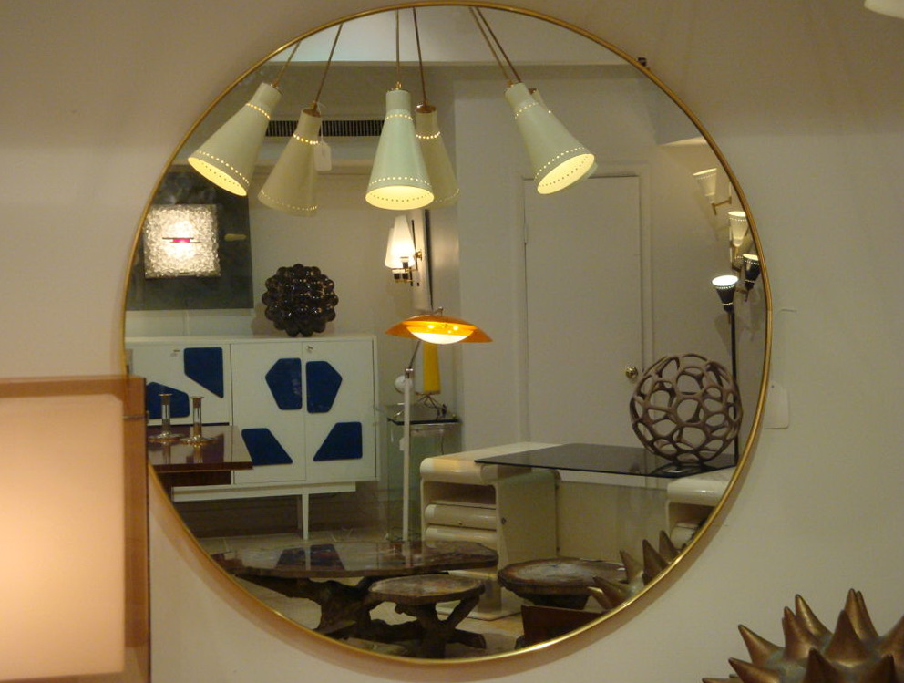 Large Round Wall Mirrors Home Design Ideas