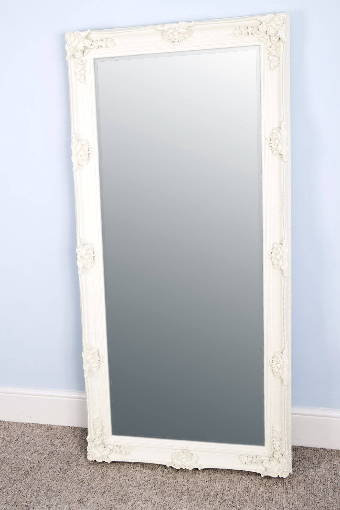 Large white floor mirror home design ideas for Large white mirror