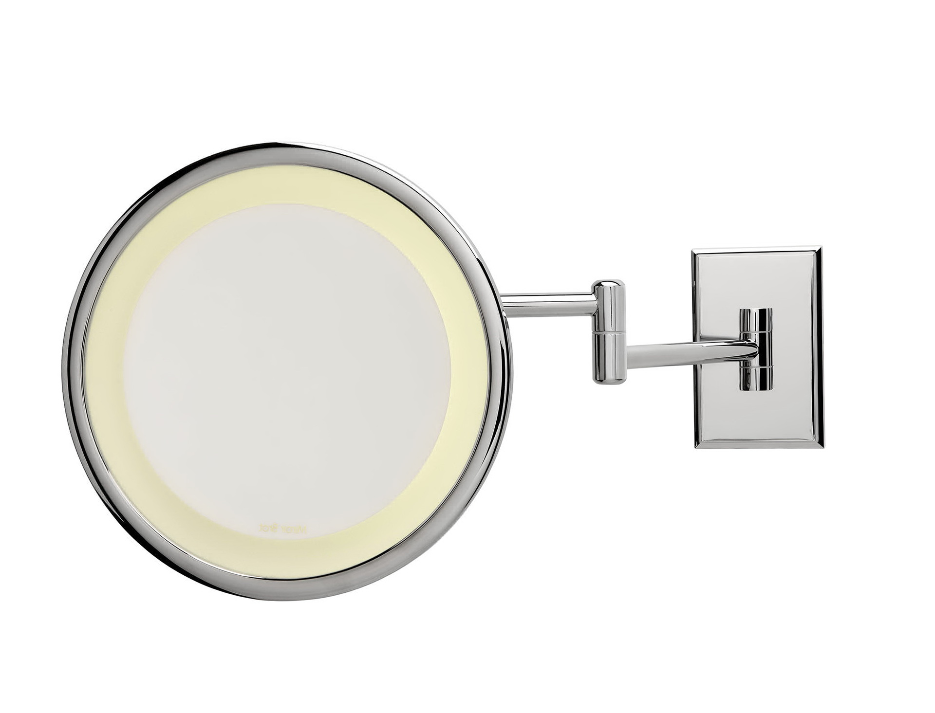 Magnifying bathroom mirror with light