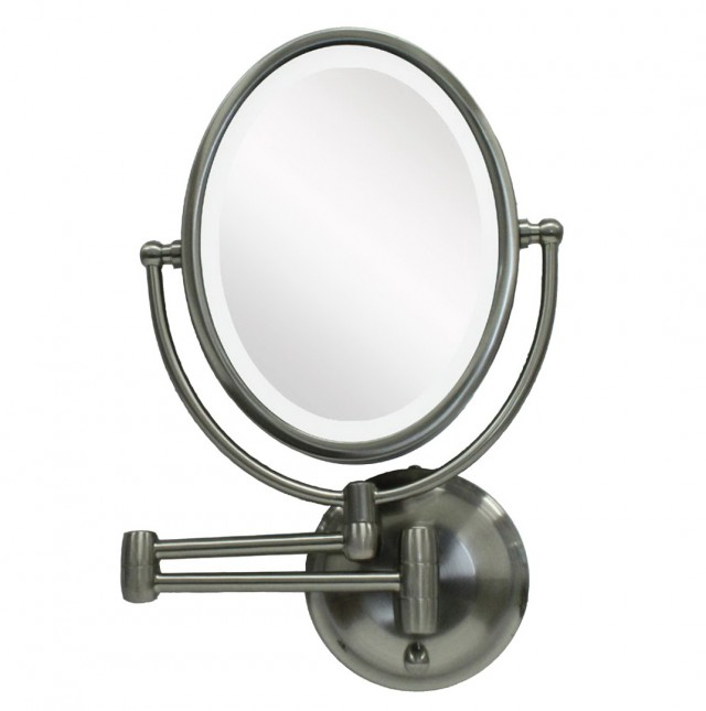 Lighted Magnifying Makeup Mirror Bronze