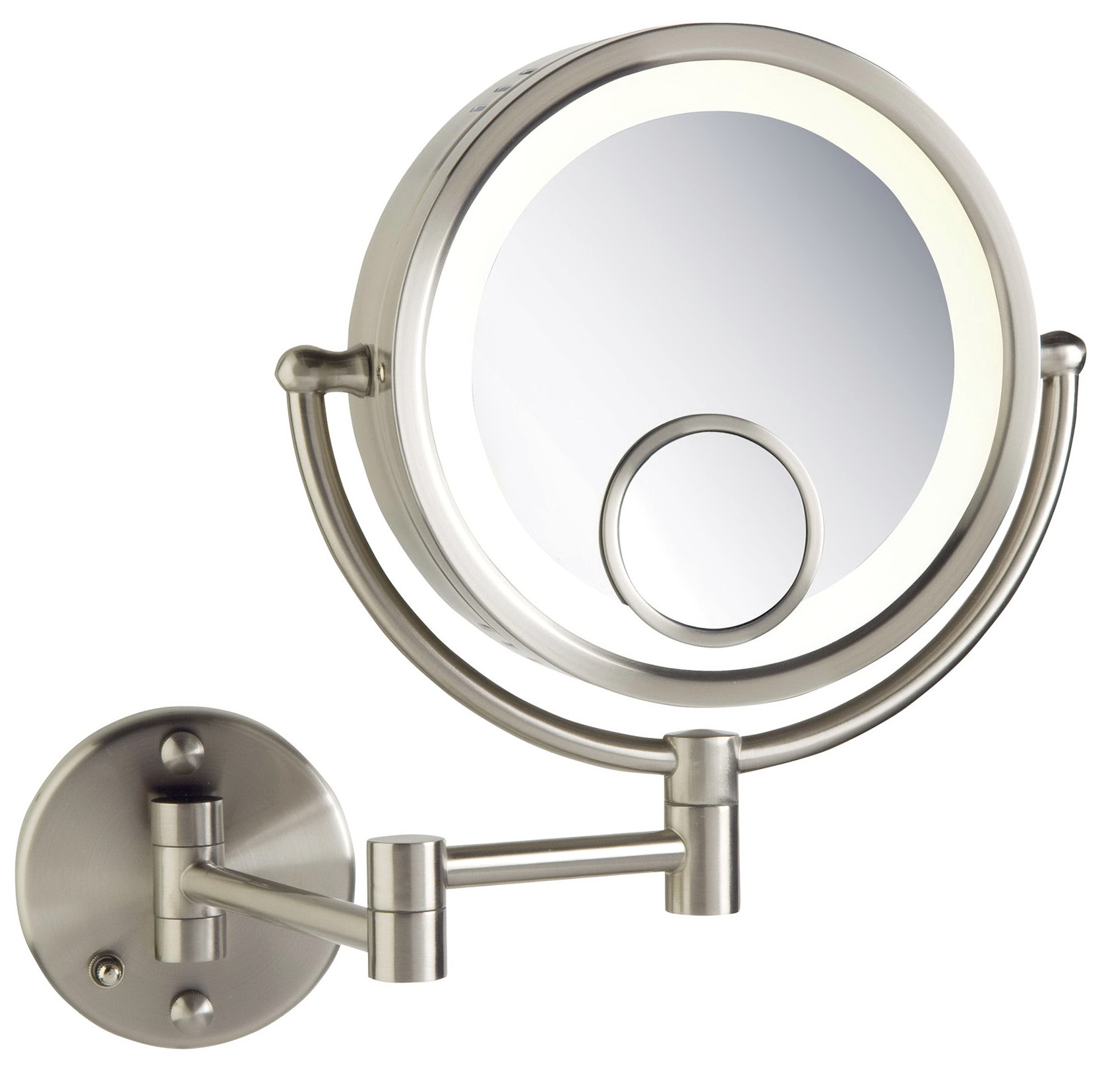 Lighted Magnifying Makeup Mirror Wall Mount Home Design