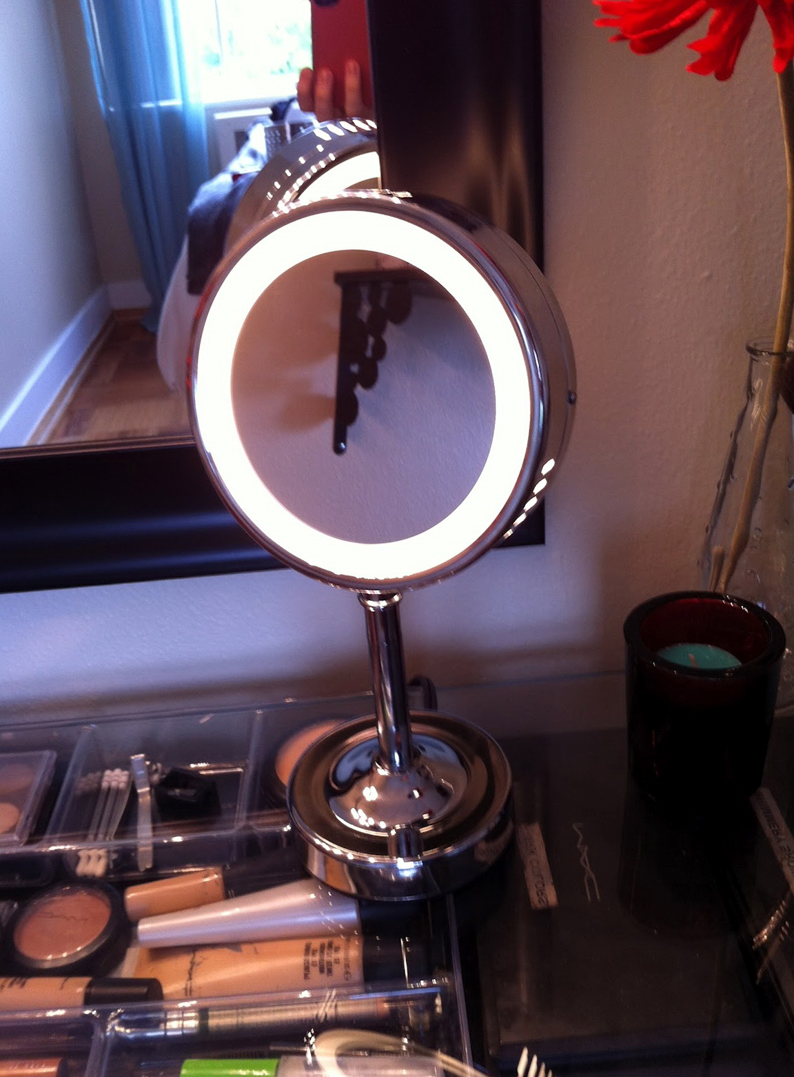 Lighted Makeup Mirror Target Home Design Ideas