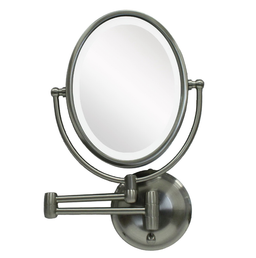 Lighted Makeup Mirror Wall Mount 10x