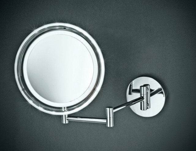 Lighted Makeup Mirror Wall Mount Battery Operated