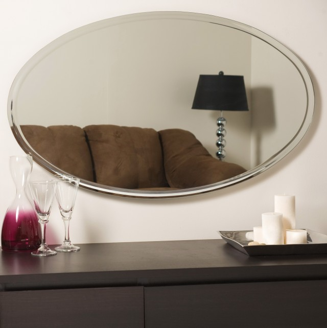 Long Oval Wall Mirror