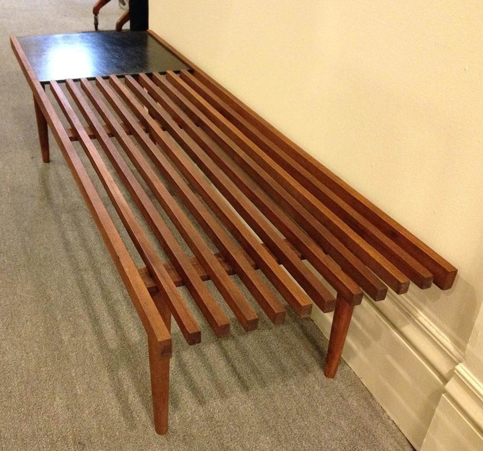 Mid Century Modern Slat Bench