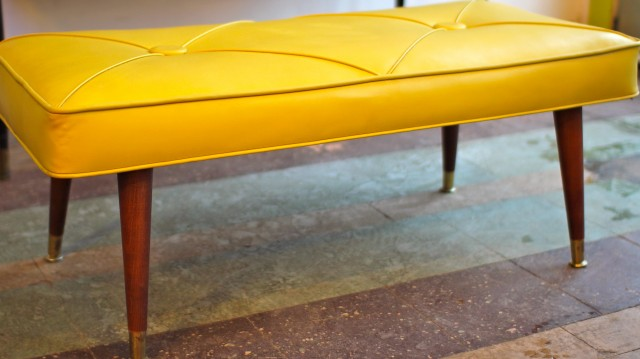 Mid Century Modern Tufted Bench