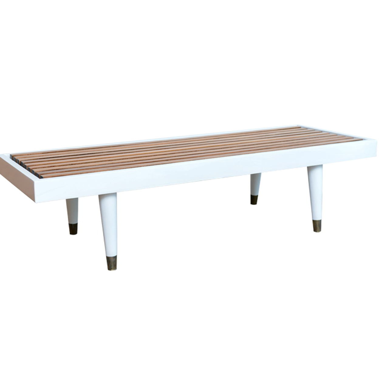 Mid Century Slat Bench Home Design Ideas