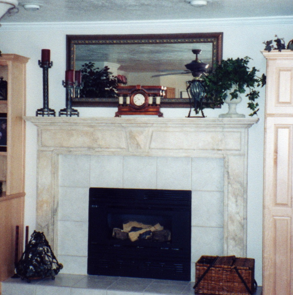 arch room display fireplace this mirrors pin mantle full elegant window over in rustic of our clients mirror