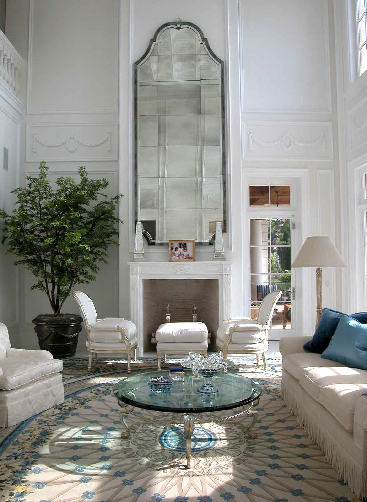 stunning mirror over fireplace contemporary interior design