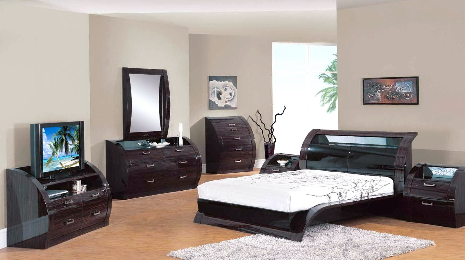 Mirrored bedroom set sale home design ideas for Mirrored bedroom furniture