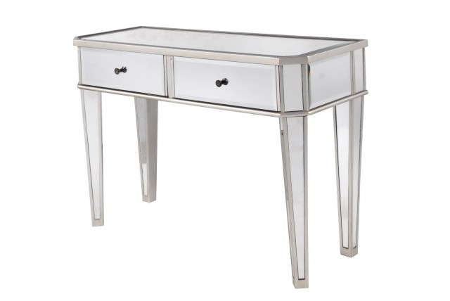 Mirrored Sofa Table In Silver