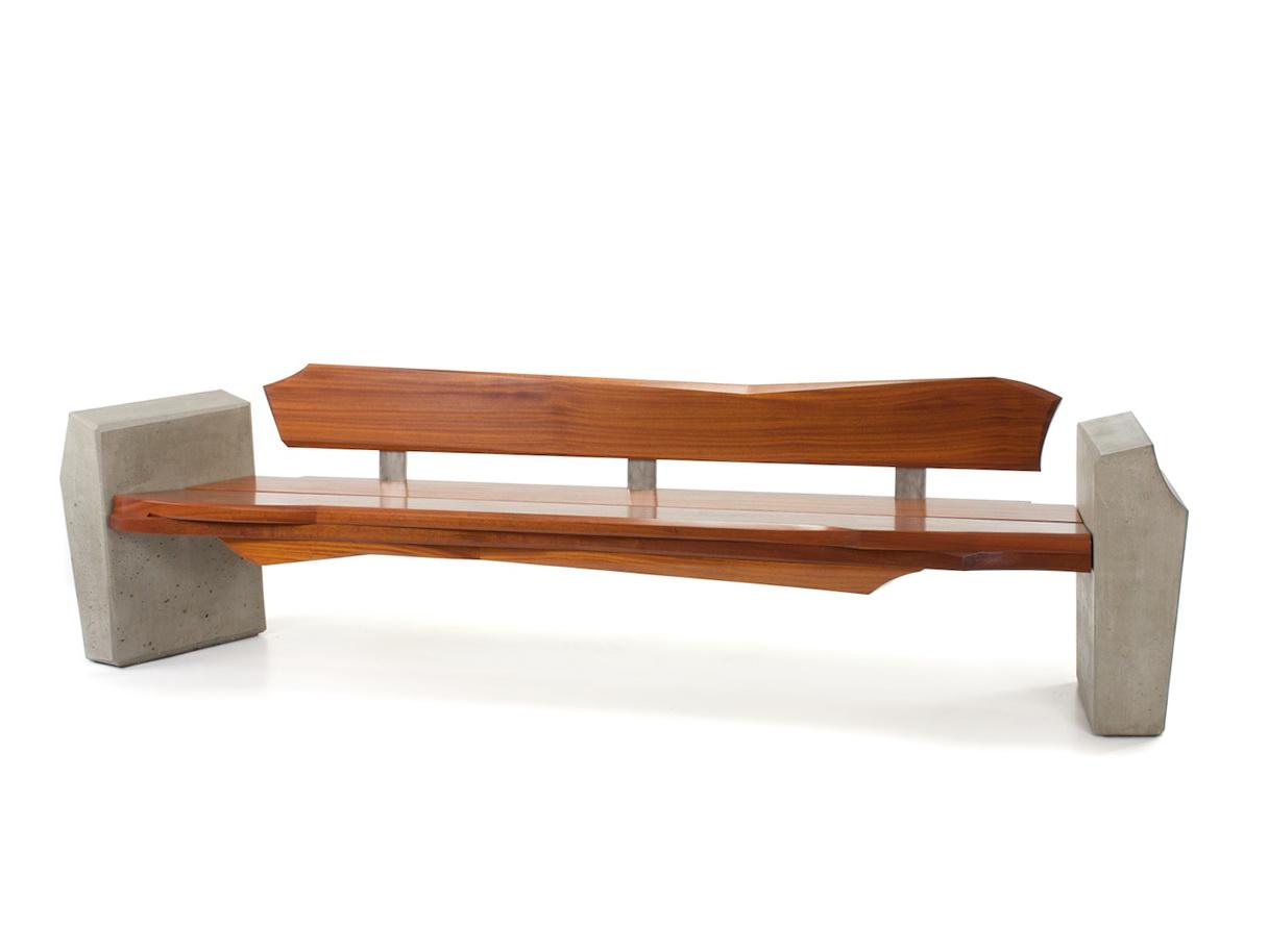 Modern Outdoor Wood Bench
