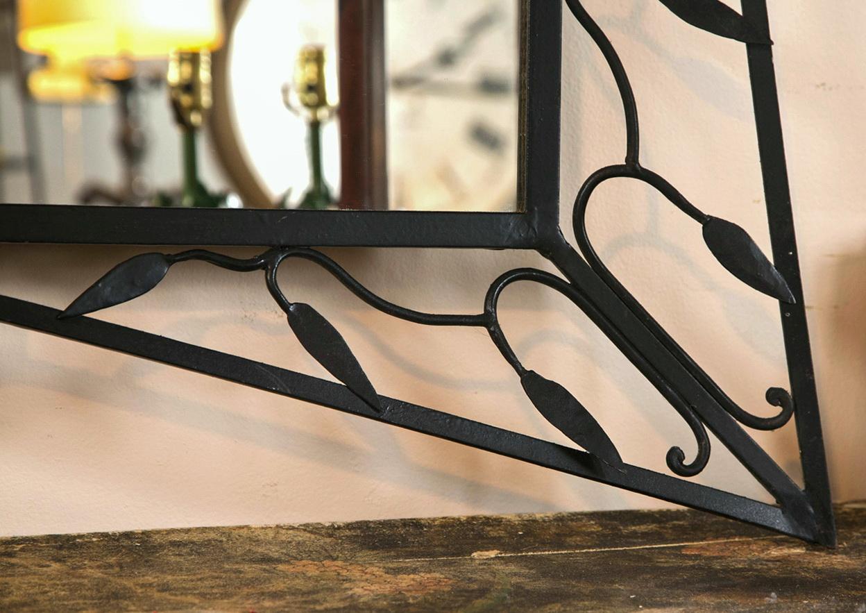 Modern wrought iron mirrors home design ideas for Wrought iron mirror