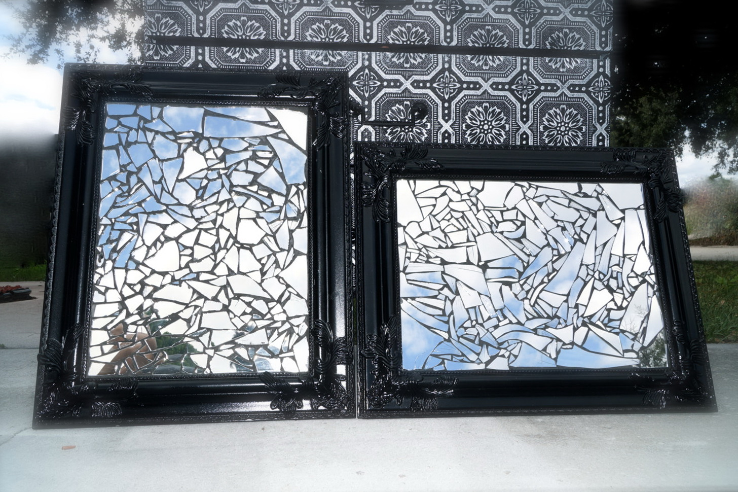 Mosaic Mirrored Wall Decor