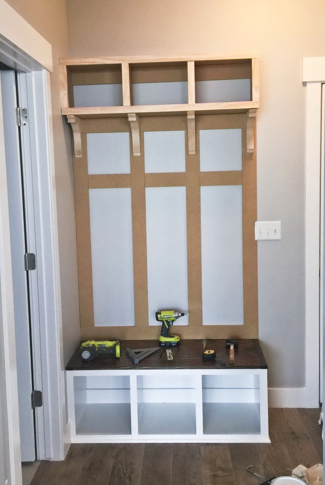 Mudroom Bench Diy