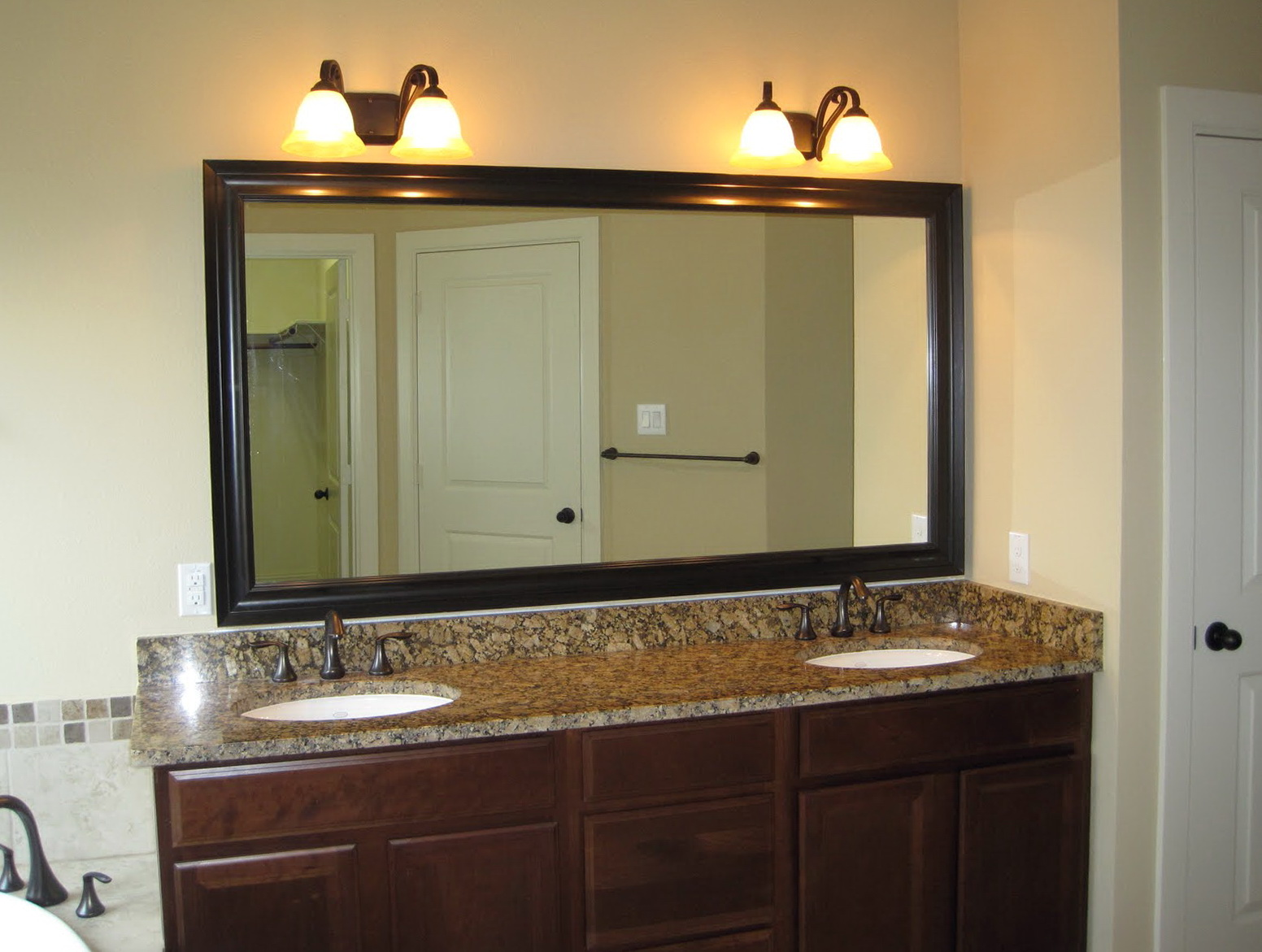 Oil Rubbed Bronze Mirror Bathroom Vanity Home Design Ideas