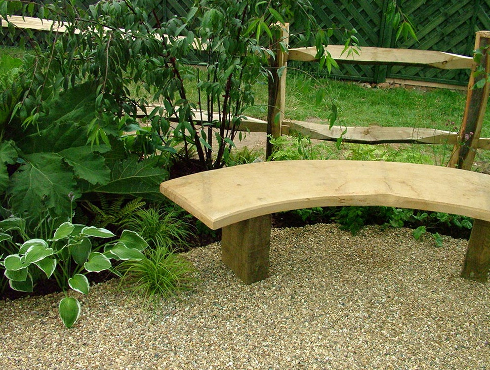 Outdoor Wood Bench Seating