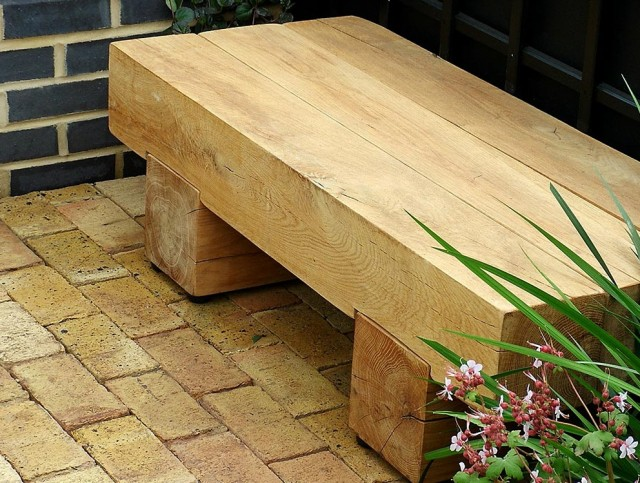 Outdoor Wooden Bench Seat