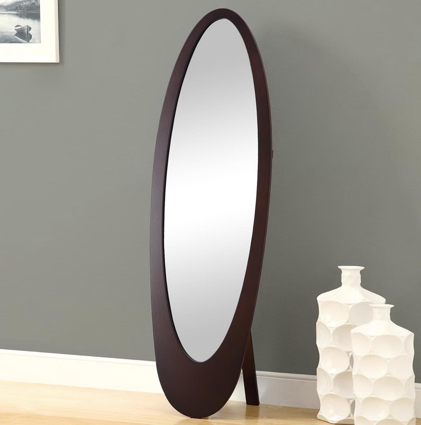 Oval Standing Floor Mirror