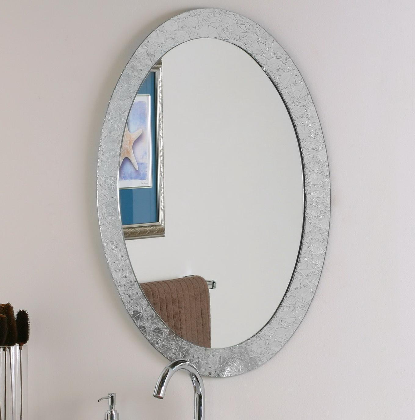 Oval Wall Mirrors Decorative