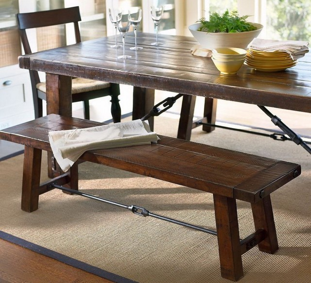 Pictures Of Dining Tables With Benches
