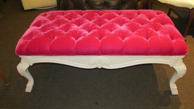 Pink Tufted Storage Bench