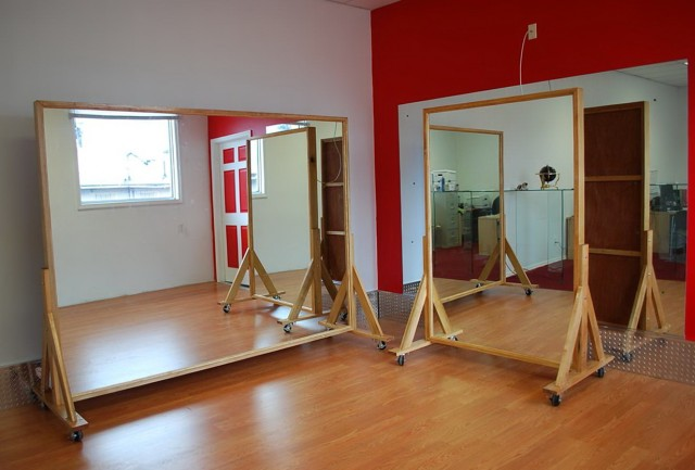 Portable Dance Studio Mirrors