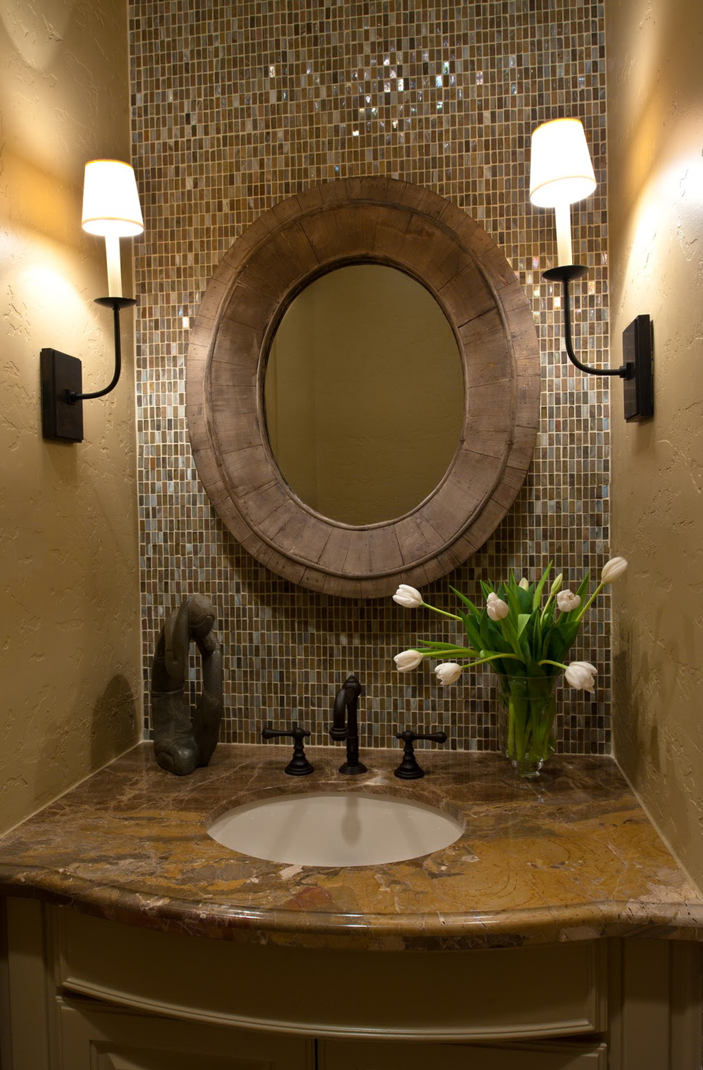 Powder Room Mirrors And Sconces Home Design Ideas