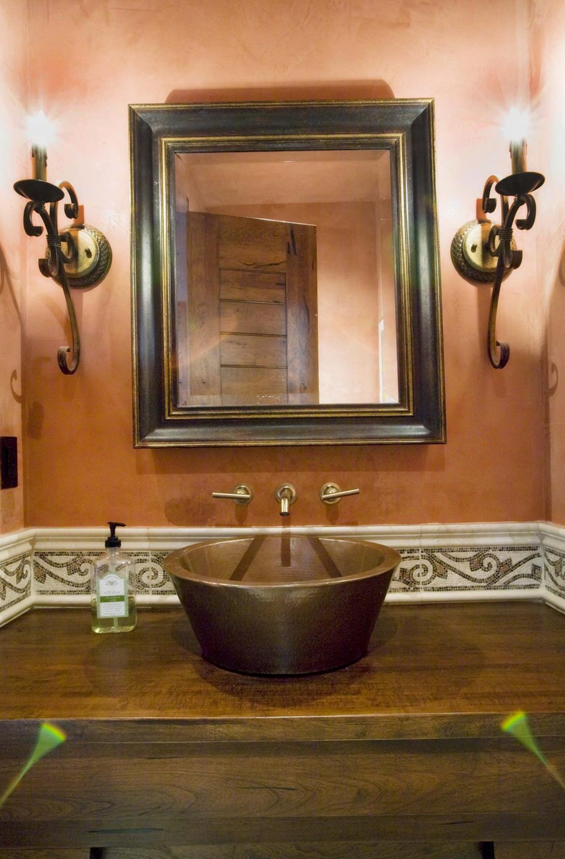 Powder Room Mirrors Houzz