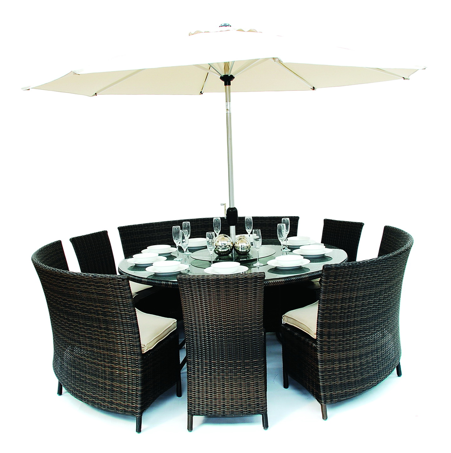 Round Bench Dining Set