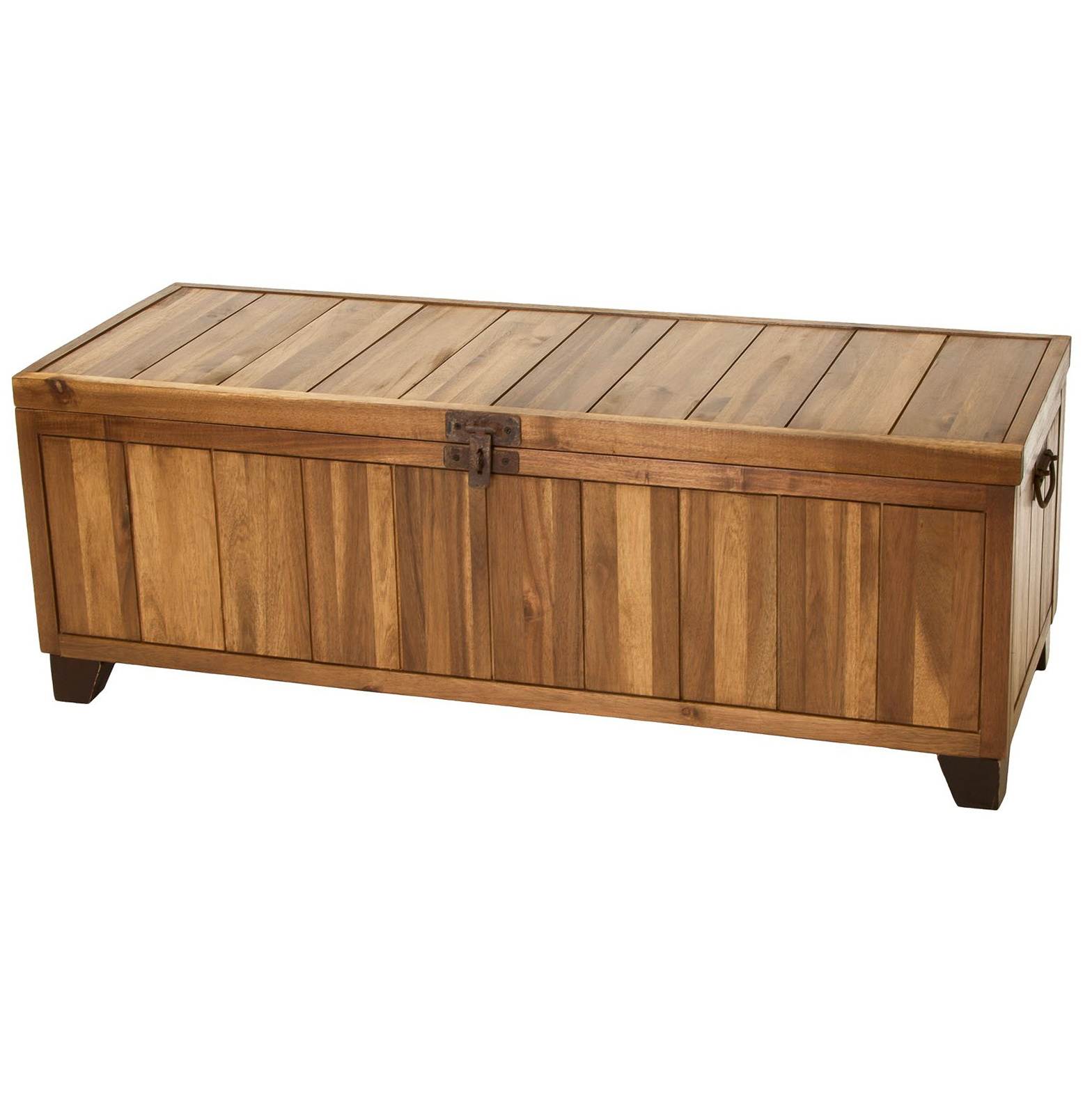 Rustic Wooden Storage Bench Home Design Ideas