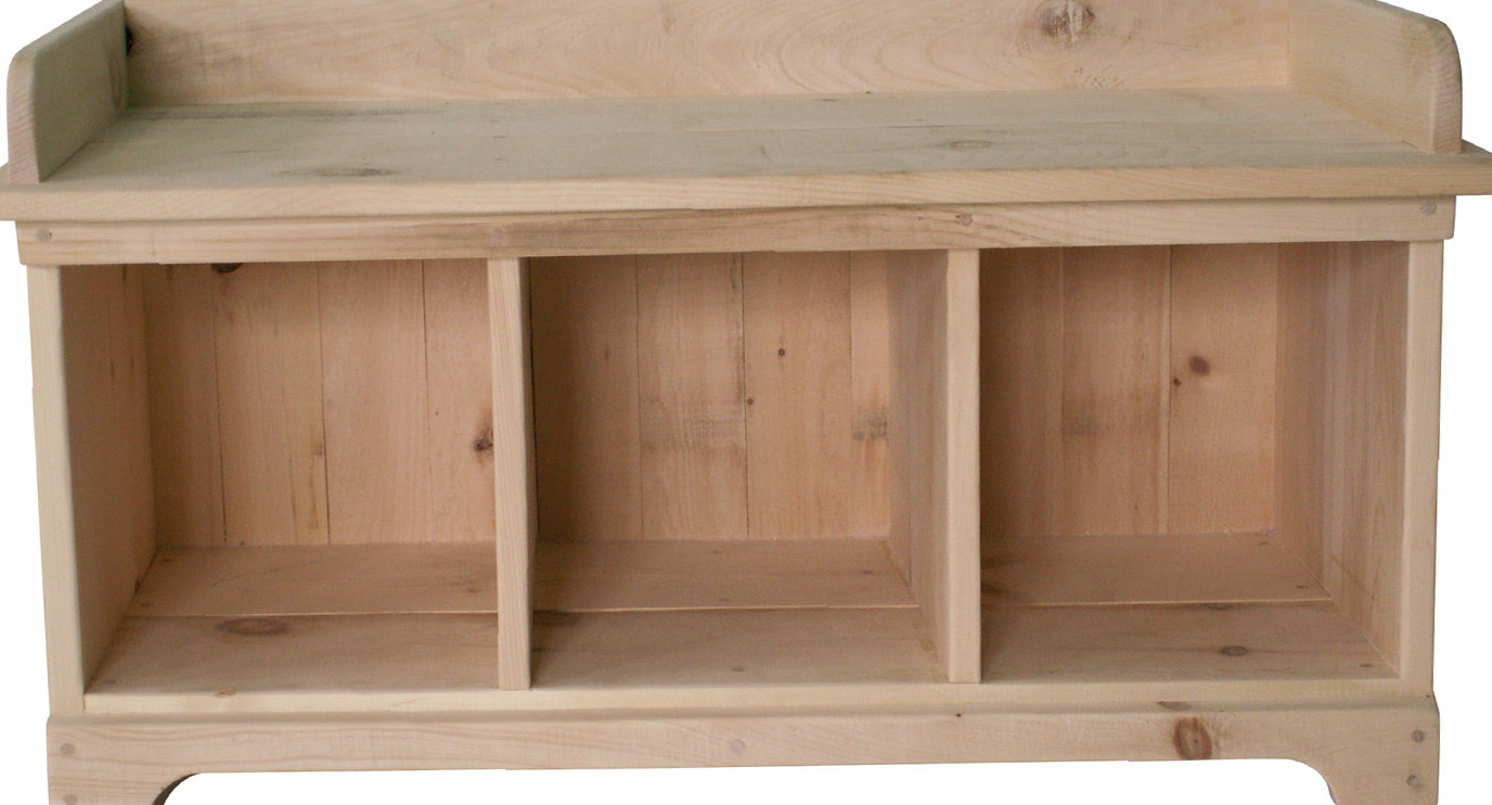 Nice Shoe Cubby Bench Plans