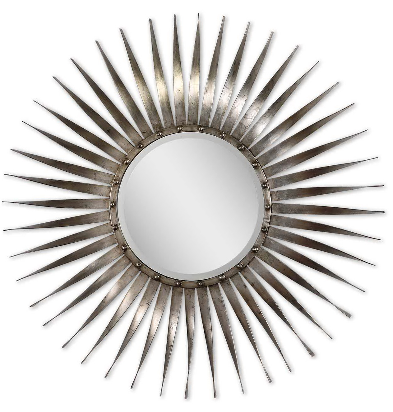 Silver Sunburst Mirror Wall Decor